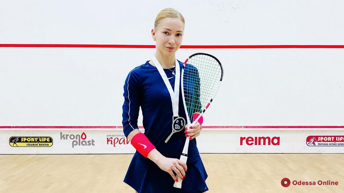 Одесситка завоевала «золото» всеукраинского турнира по сквошу и неожиданный приз