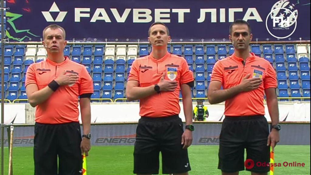 Футбол: одесский арбитр дебютировал в Премьер-лиге