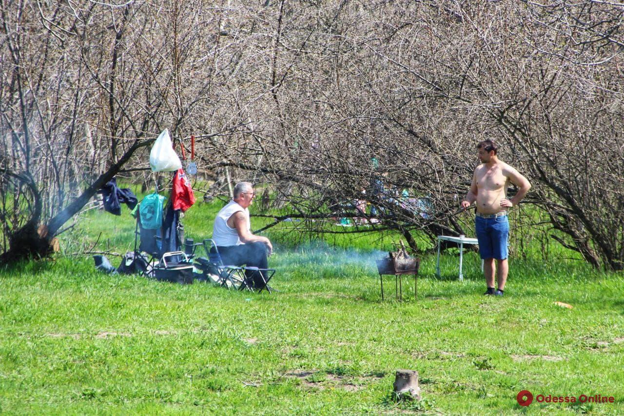 +20 и шашлык: одесситы массово отмечают первомай на природе (фото)