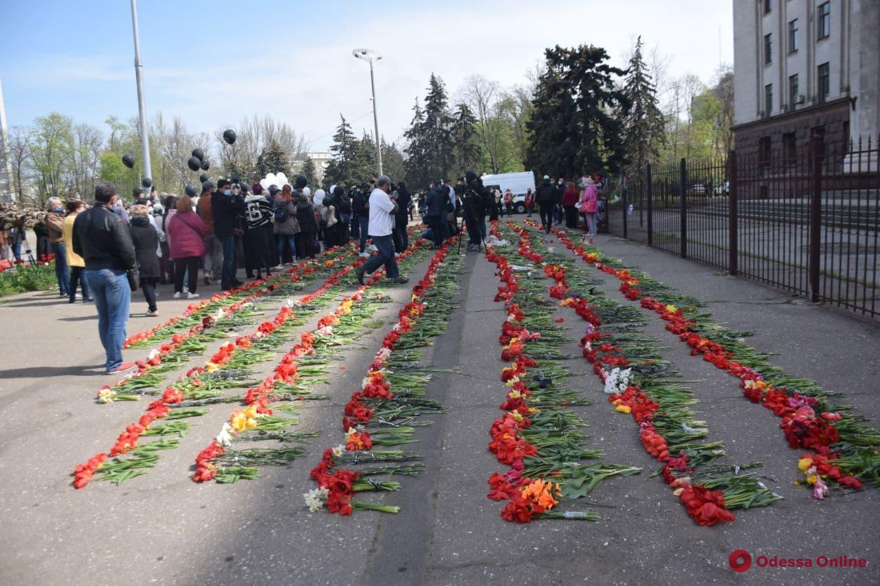 Сотня одесситов провела митинг-реквием на Куликовом поле