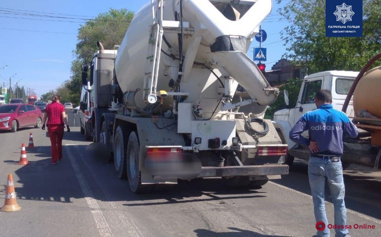 На Тираспольском шоссе бетономешалка насмерть сбила женщину