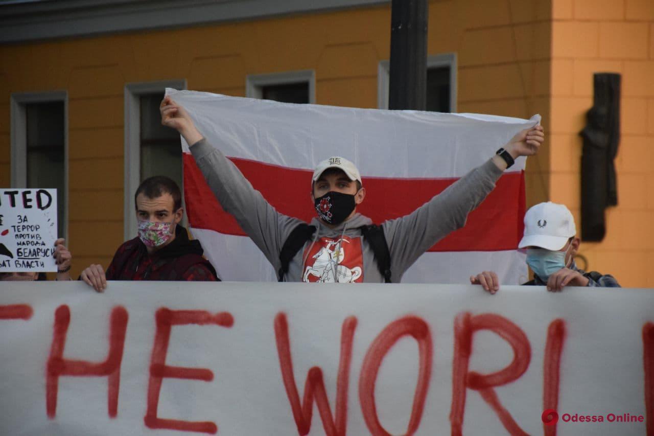 Нет — международному терроризму: белорусы в Одессе вышли в поддержку захваченного журналиста (фото)