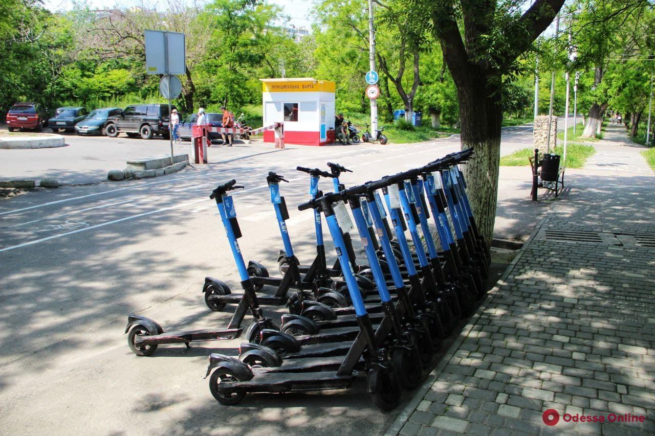 В Одессе разработают схему размещения и скоростного лимита для электросамокатов