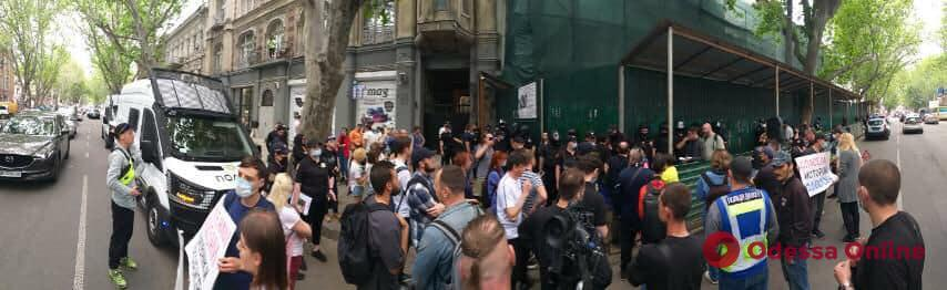 Одесситы провели пикет против сноса типографии Фесенко на Ришельевской