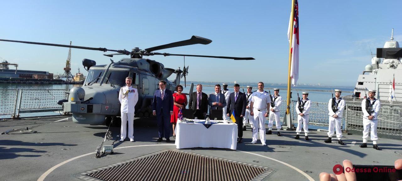 В Одессе на британском эсминце Украина и Великобритания договорились о совместном строительстве военных кораблей