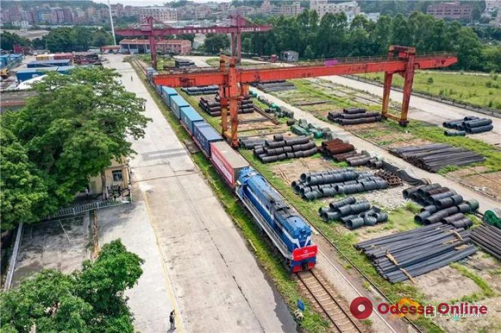 В Одессу следует первый грузовой поезд из китайского Гуанчжоу