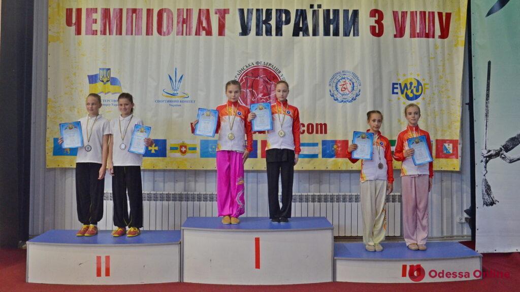 Сборная Одесской области завоевала 70 медалей двух чемпионатов Украины по ушу