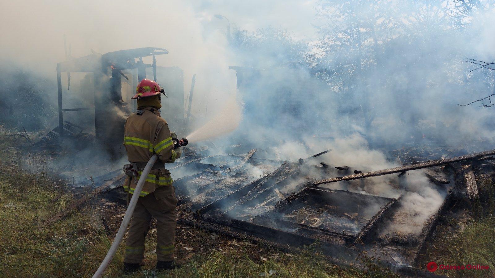 В Белгород-Днестровском районе горел заброшенный дом