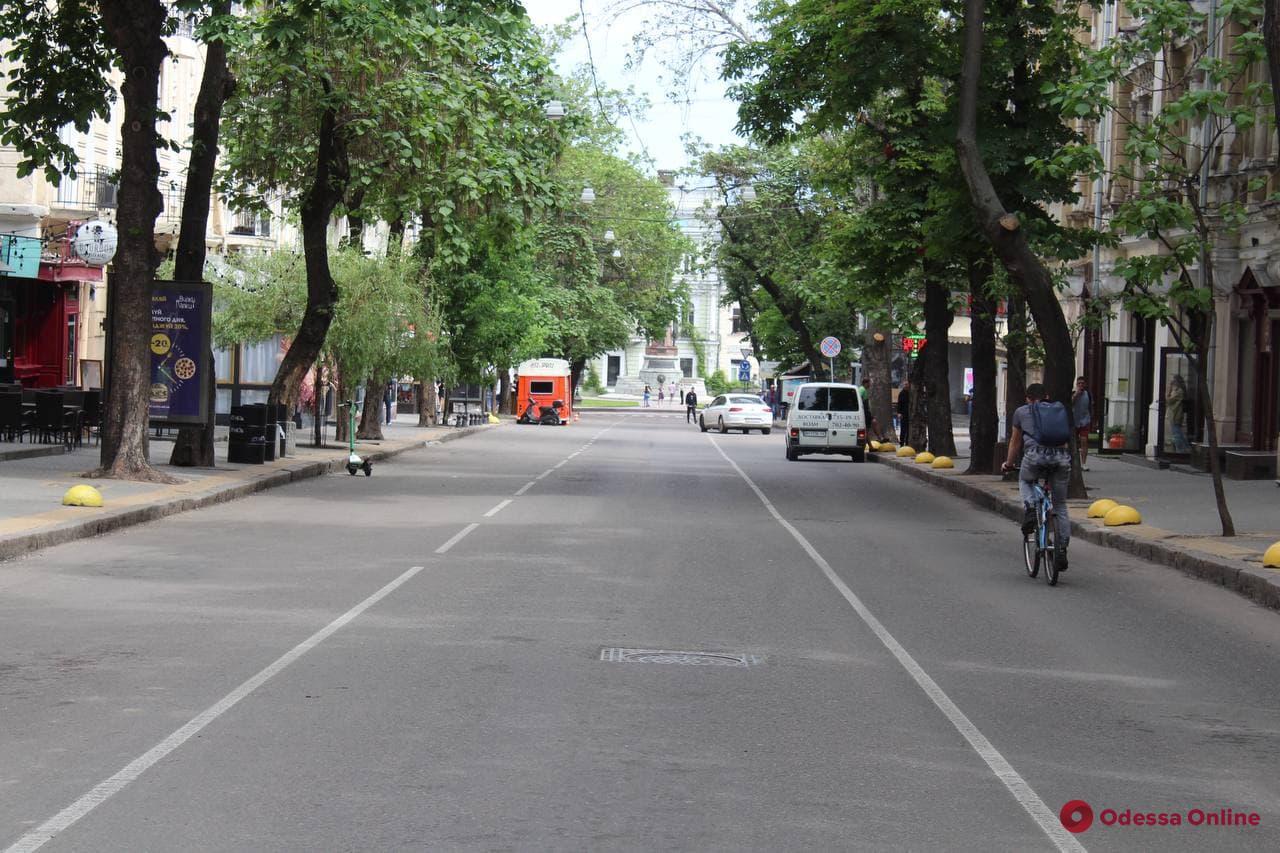 Первое утро «пешеходного центра» Одессы (фоторепортаж)