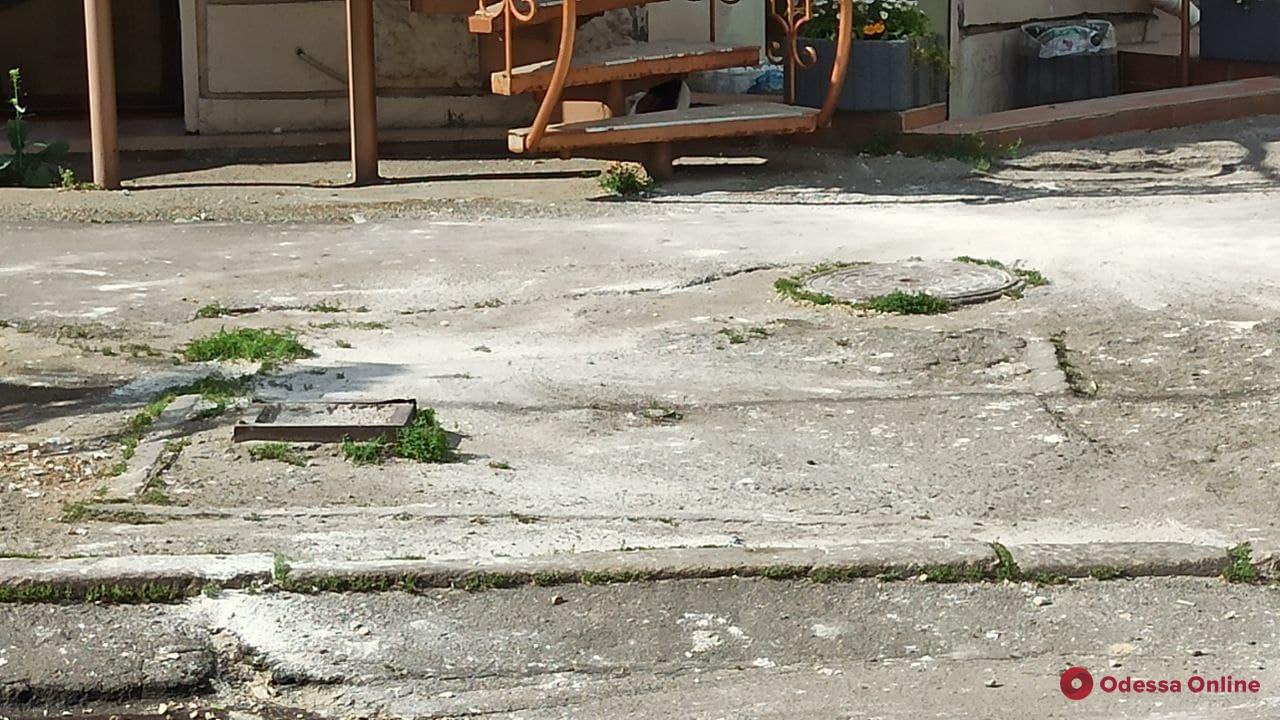 На Канатной кусок карниза обвалился на припаркованный автомобиль (фото)