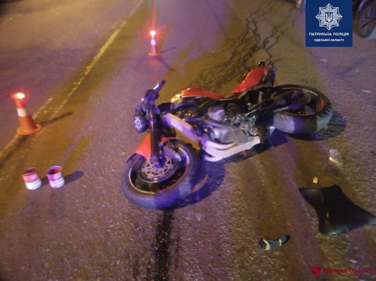 В центре Одессы мотоциклист сбил пешехода