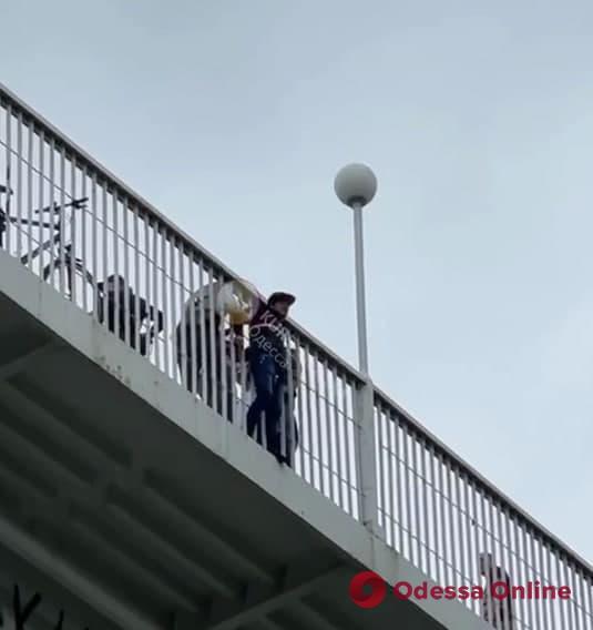 В Одессе спасли мужчину, который хотел прыгнуть с Тещиного моста