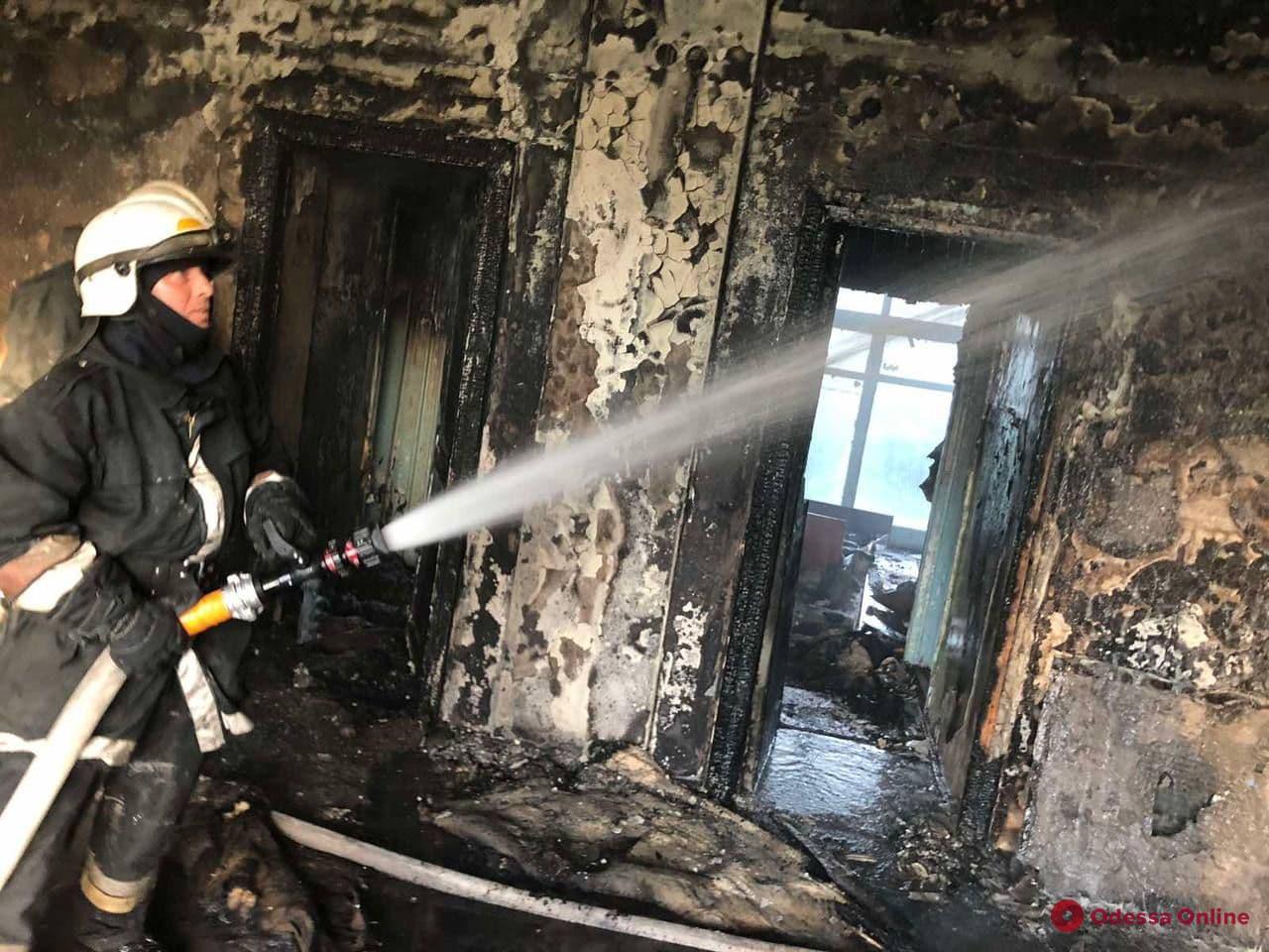 На Фонтане снова горел санаторий «Красные зори» (фото)
