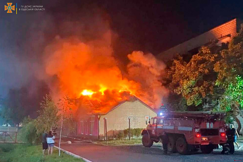 В Измаиле ночью сгорел бар