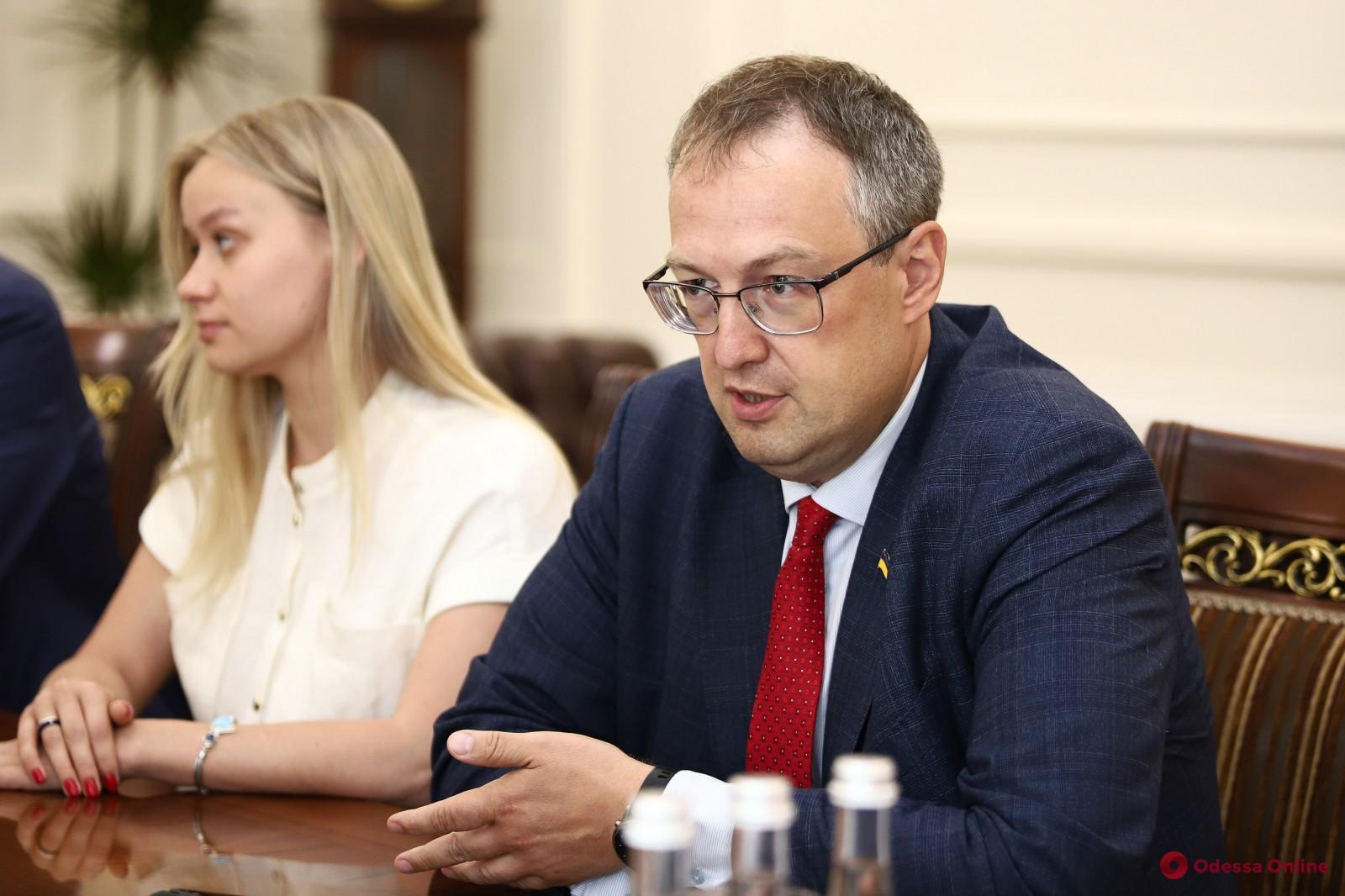 Мэр Одессы Геннадий Труханов встретился с замминистра внутренних дел Украины Антоном Геращенко