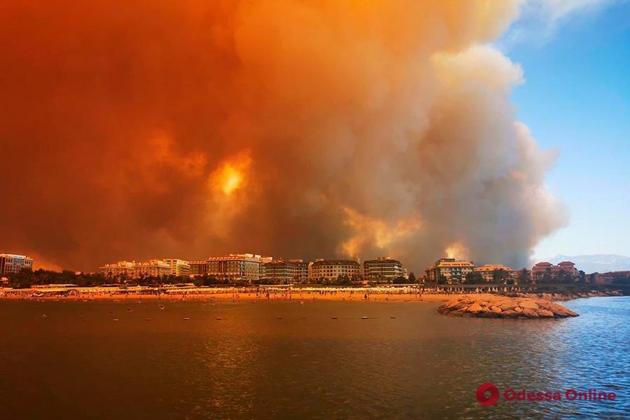 Украина направляет два самолета для тушения масштабных лесных пожаров на турецких курортах