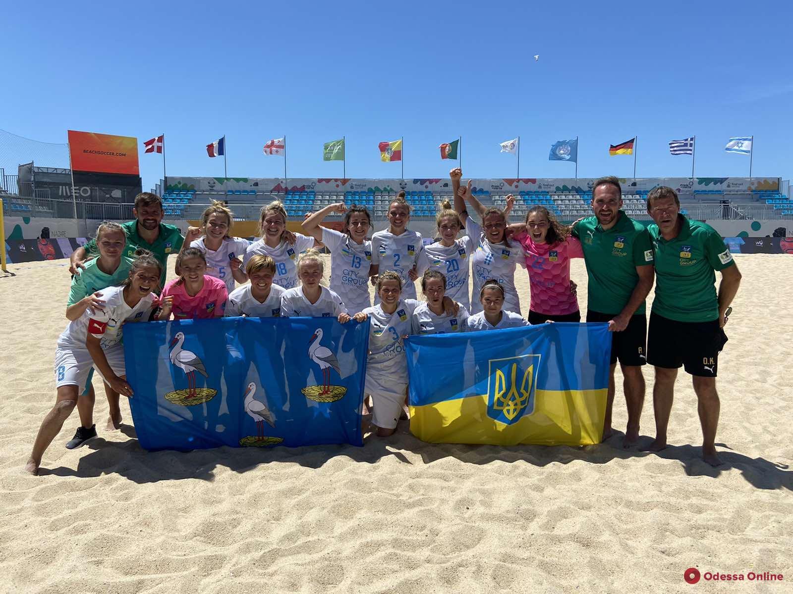 Пляжный футбол: ананьевская «Мрія-2006» одержала первую победу в Кубке Европейских чемпионов