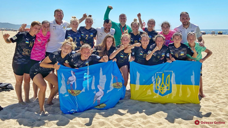 Пляжный футбол: ананьевская «Мрія-2006» обыграла чемпионок Испании в Кубке Европейских чемпионов