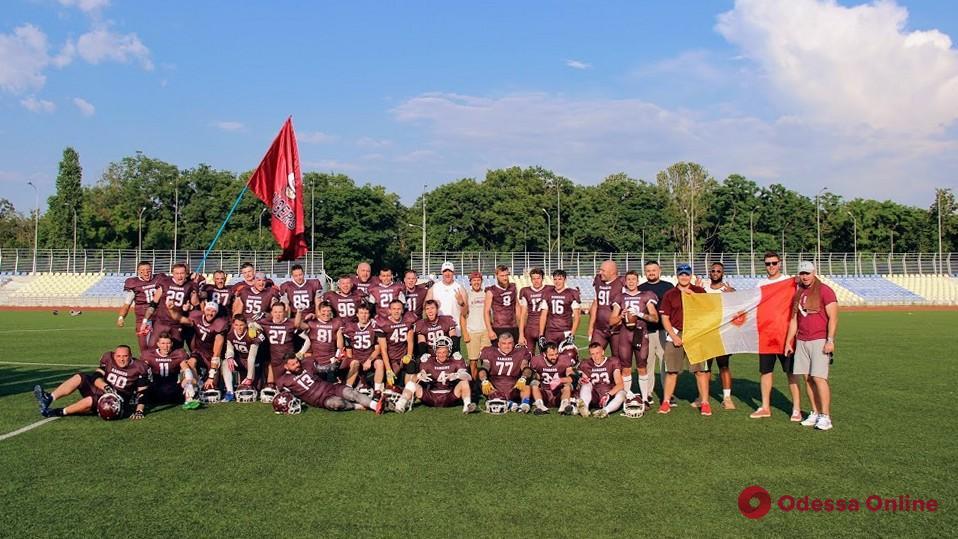 Американский футбол: «Odessa Rangers» совершили невероятный «камбэк» в игре с «Mykolaiv Vikings»