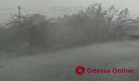 Под Одессой прошел мощный ливень с градом (видео)