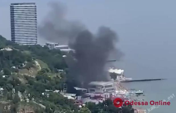 В Аркадии горел отель «Портофино»