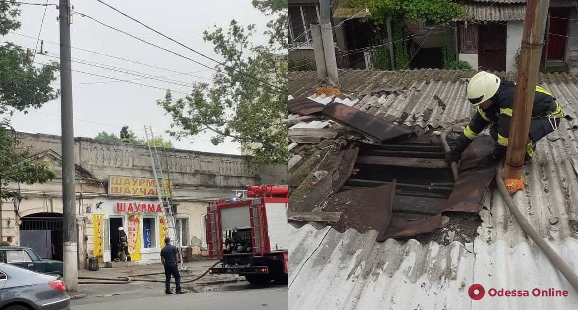 На Молдаванке второй раз горела шаурмичная