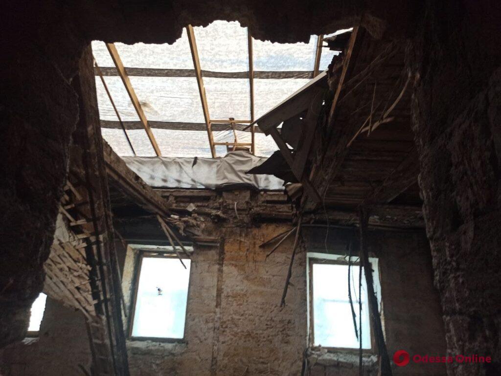 Одесса: в доме Либмана частично обрушились чердачные перекрытия (фото)