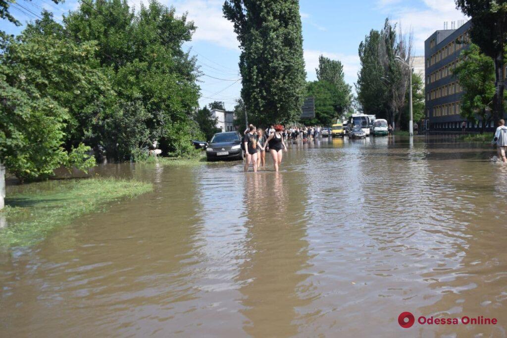 В Одессе за ночь выпало свыше двухмесячной нормы осадков (фото)