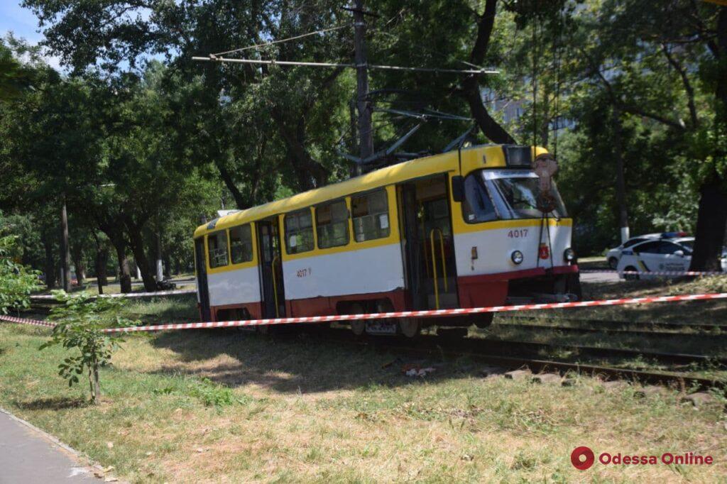 На поселке Котовского газонокосильщик попал под трамвай (обновлено)
