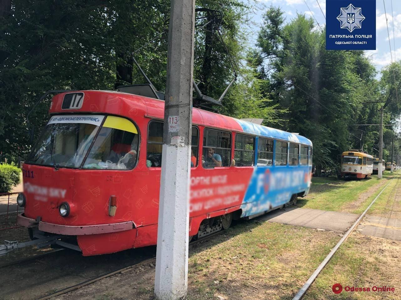 На Фонтане трамвай сбил 65-летнего пешехода