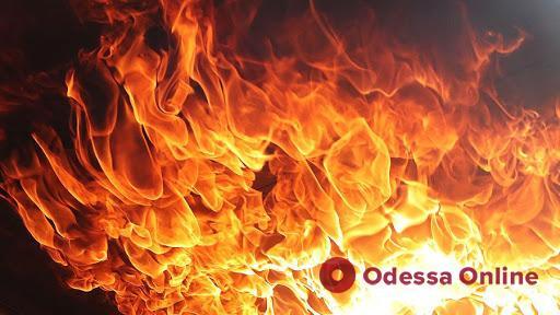 Под Одессой при пожаре пострадал мужчина
