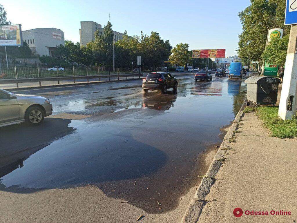 «Балковское озеро»: на многострадальной улице появился новый водоем (фото)