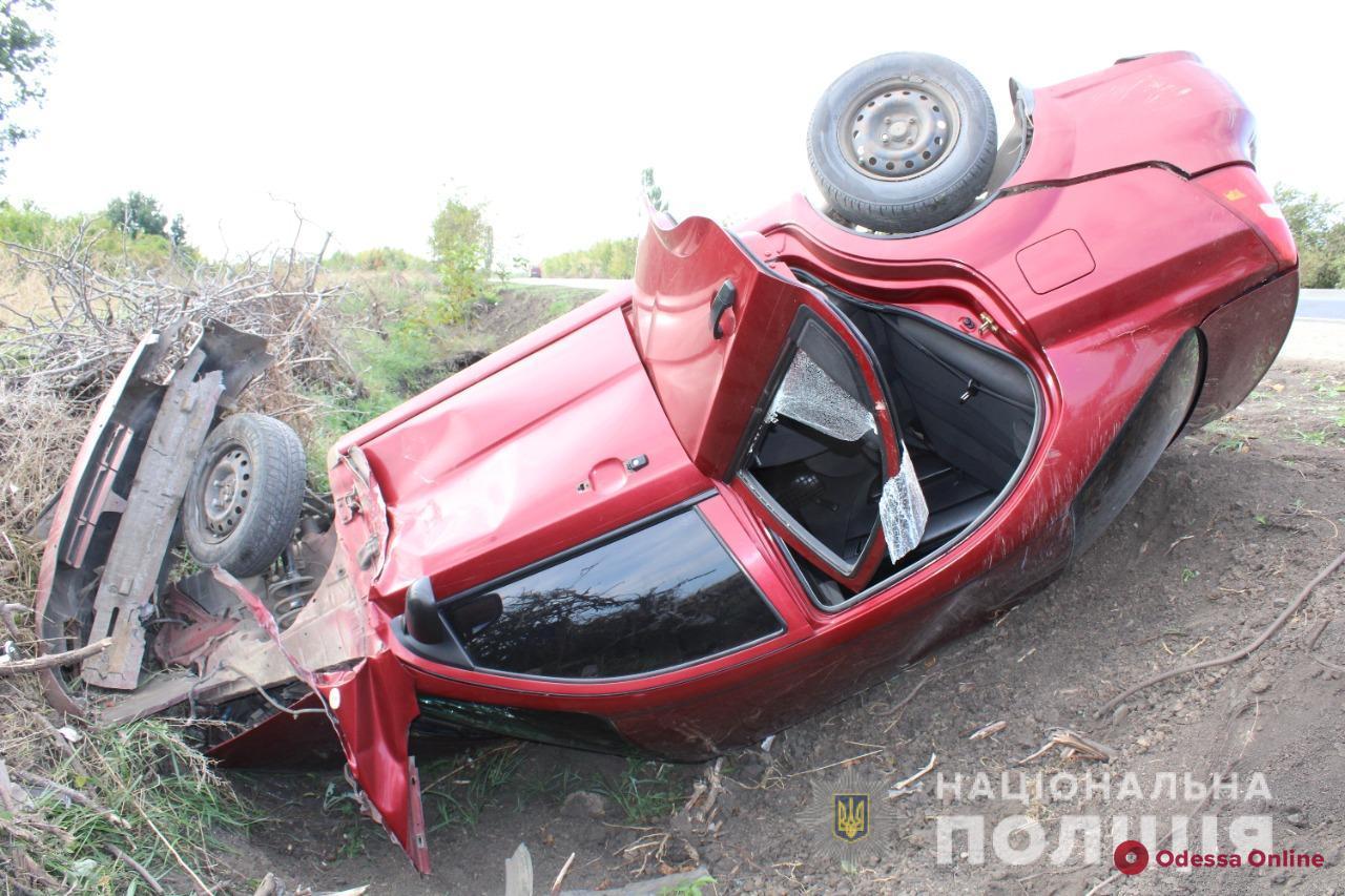 В Одесской области случилось ДТП с «перевертышем»