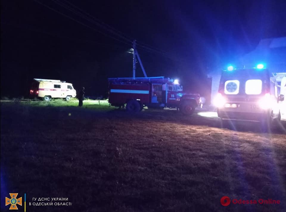 В Одесской области во время пожара в частном доме пострадал мужчина (фото)