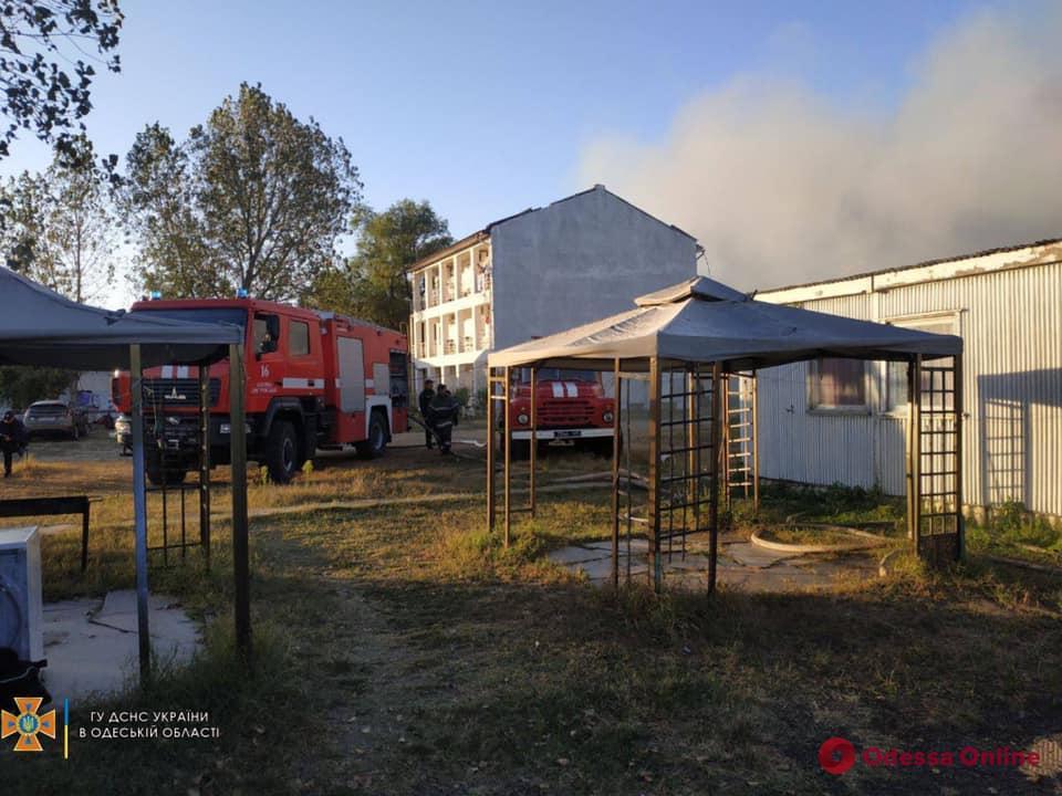В Затоке тушили пожар на базе отдыха – 25 человек эвакуировали (фото, видео)