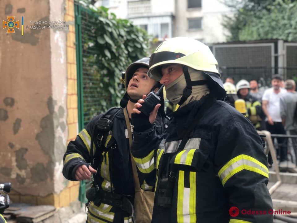 В четырнадцатиэтажке в центре Одессы тушили пожар