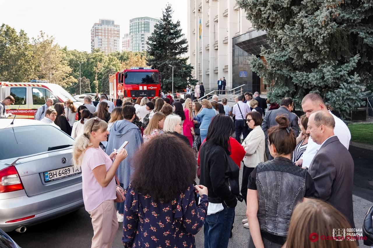 В здании ОГА на проспекте Шевченко провели пожарные учения (фото)