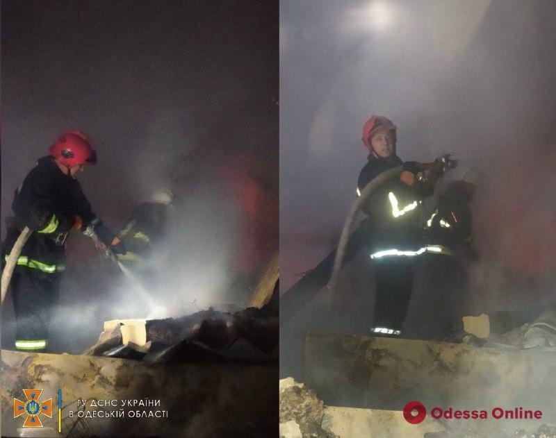 В Одесской области сгорел продуктовый магазин