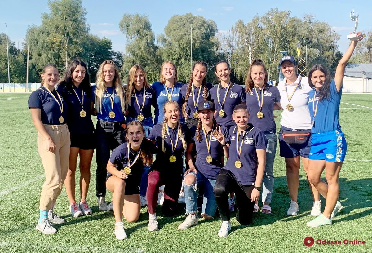 Одесские регбистки в третий раз подряд завоевали «золото» украинской Суперлиги