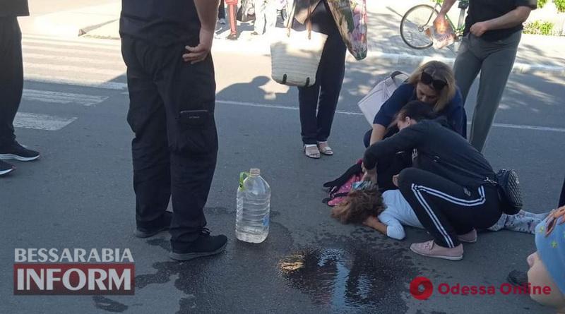 В Килии несовершеннолетний мопедист сбил на пешеходном переходе школьницу