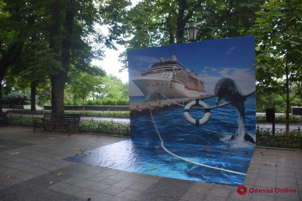 Приморский бульвар украсили 3D-фотозонами (фото)