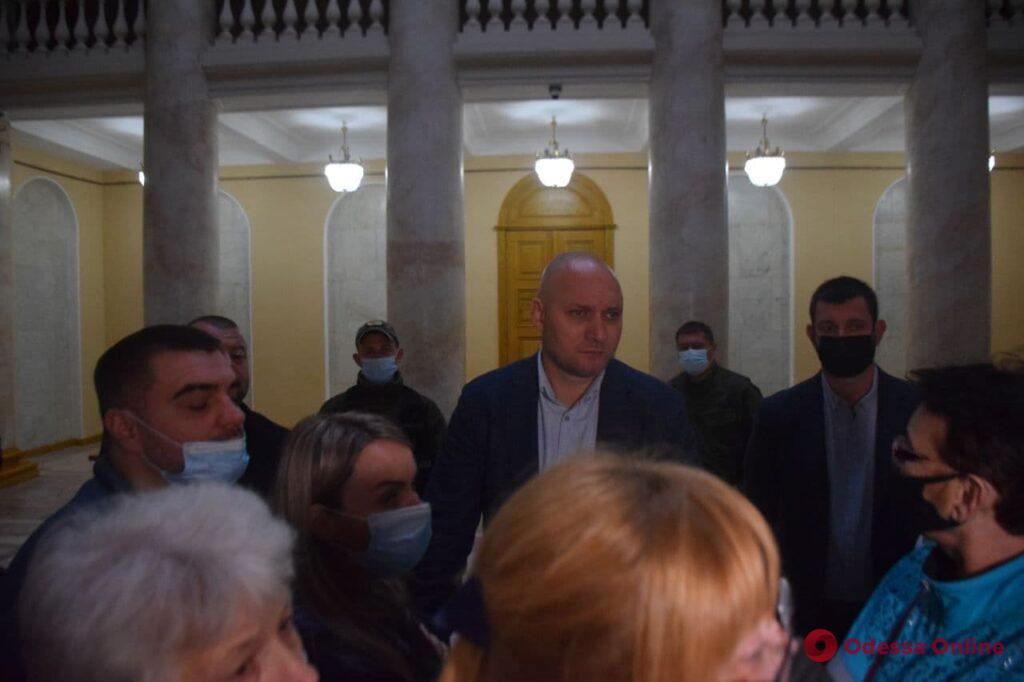 «Вешают» несуществующие долги: на Думской площади прошел митинг против деятельности «Одессагаз» (фото, видео)