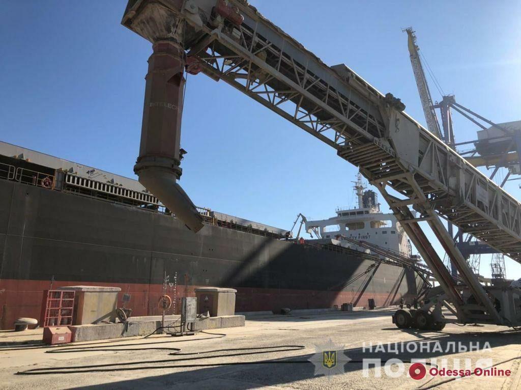 В порту «Черноморск» предотвратили незаконный вывоз зерна стоимостью семь миллионов долларов