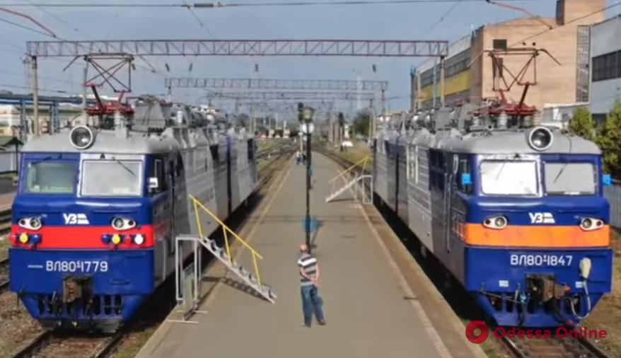 На Одесской магистрали прошла выставка локомотивов (видео)