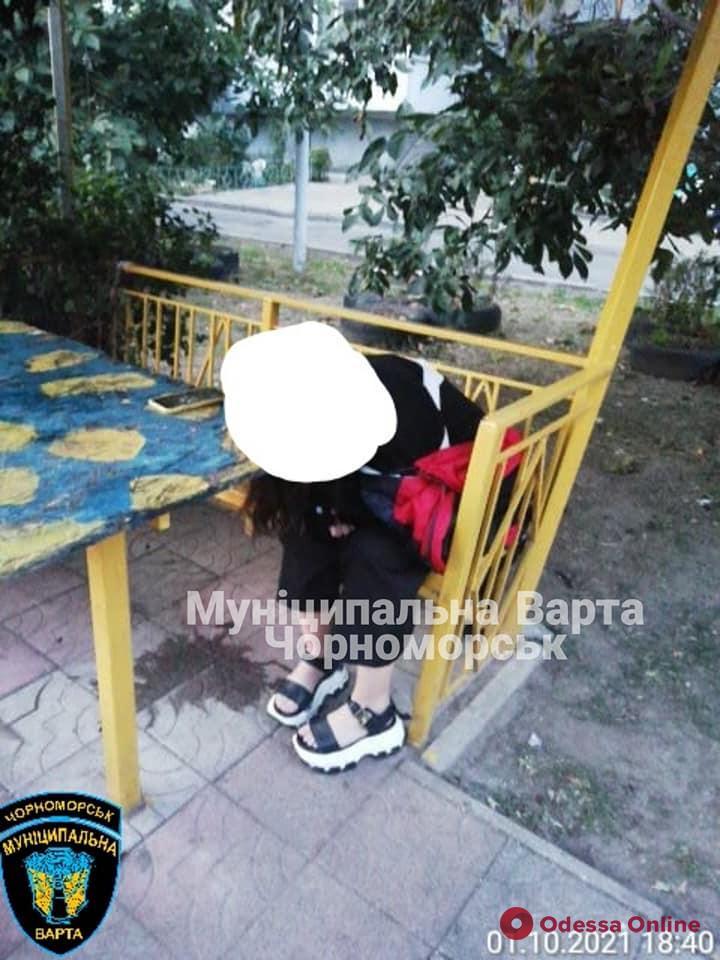 В Черноморске муниципальная стража спасла пьяную девочку