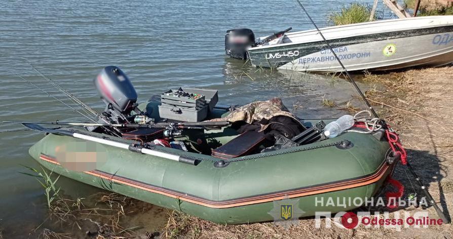 На реке Глубокий Турунчук полицейские поймали пьяного рыбака из Одессы