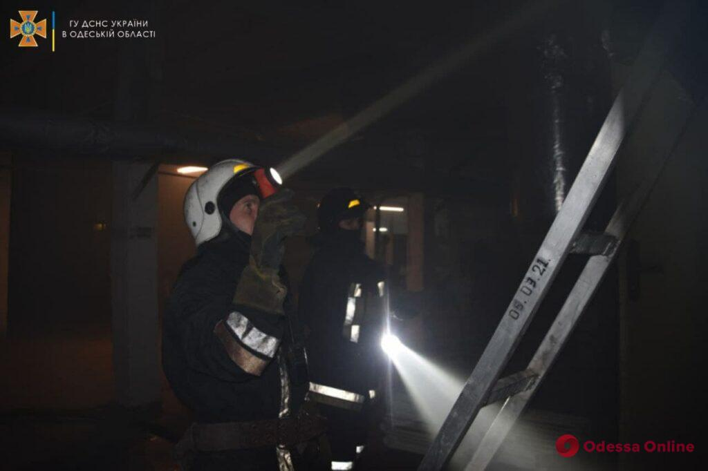 В Одессе горело здание Морской академии